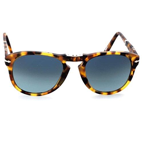 Persol Madreterra PO0714 Limited Edition Steve McQueen Foldable Polarized Acetate Sunglasses. Size 54. Color 24/S3. Blue polarized - Glasses Sun Mcqueen Steve