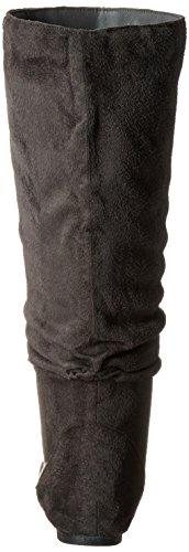 Brinley Co Womens Slouchy Microsuede Boots Grey IidVgPFK
