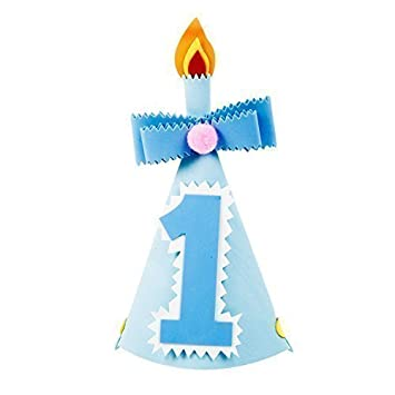 Terrific 1St Birthday Cake Smash Foam Hat Blue No 1 Amazon Co Uk Funny Birthday Cards Online Aeocydamsfinfo