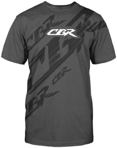 - Honda Mens CBR Slash Short-Sleeve T-Shirt/Tee, Charcoal, Medium