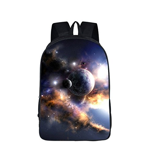 Weajab Sky Students School Backpack School Bags Starry Night/Space Star Bag 16XK12