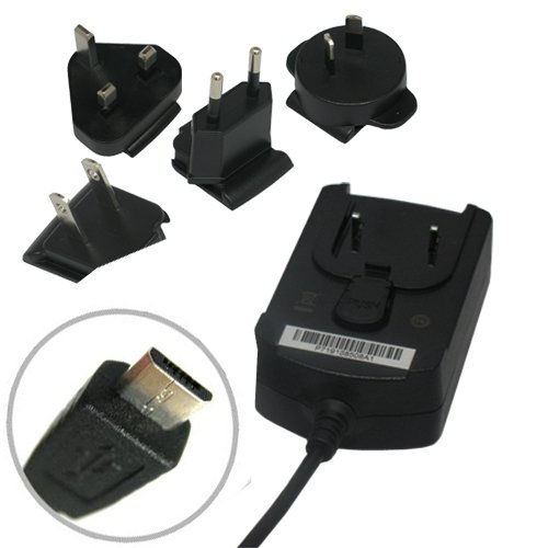 Blackberry International World Travel Charger Adapter with micro USB Cable for Blackberry Pearl Flip 8220 8230 Curve 8530 8520 8900 Storm 9500 9530 Storm2 9550 9520 - Blackberry 9500 Storm Charger