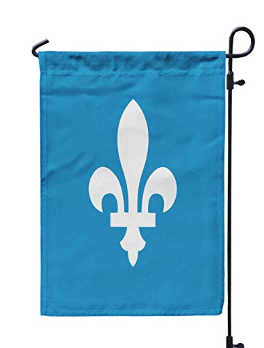 Shorping Welcome Garden Flag, 12x18Inch Outline Icon Isolated White The Blue Background Exclusive Symbols for Holiday and Seasonal Double-Sided Printing Yards Flags]()