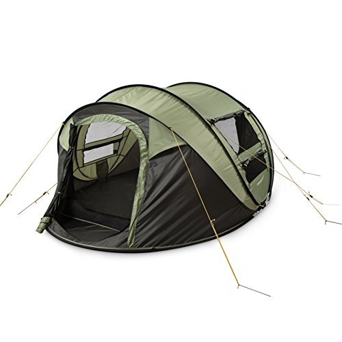 FiveJoy-Instant-4-Person-Pop-Up-Dome-Tent-Easy-Automatic-Setup-Fast-Pitch-Fold-into-Portable-Carrying-Case-Includes-Stakes-Ideal-Shelter-for-Casual-Family-Camping-Hiking-Outdoor-Festivals