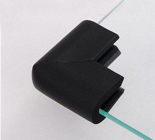 Nicebuty 4pcs Sécurité meubles d'angle bébé Bumper Sécurité Table Coin Edge U Type de coussin de protection d'adoucissant (Noir)
