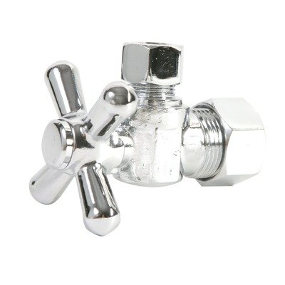 3/8'o Compression Cross Handle (Mountain Plumbing MT621/BRN 5/8-Inch OD Mini Cross Handle Angle Valve, Brushed Nickel)