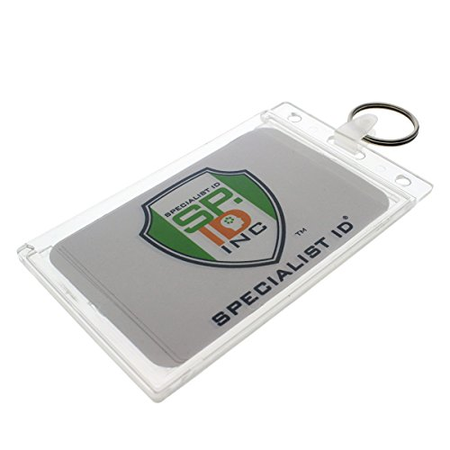 Rigid Fuel Card Holder with Key Ring by Specialist ID