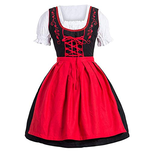 LYN Star ◈ Women French Maid Costume Sexy Black Satin Halloween Fancy Dress M-5XL Short Sleeves Above Knee Flare Dress
