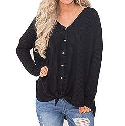 Womens Casual Tunic Top Fashion Knit Bat...