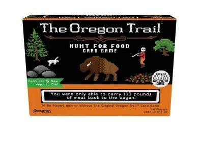 Pressman The Oregon Trail Card Game Bundled with one Collector Green/Gold Die ... (Oregon Trail - Hunt for Food) (Best Oregon Trail Game)