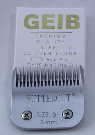 Geib Buttercut Stainless Steel Dog Clipper Blade, Size-5F, 1/4-Inch Cut Length by Geib Buttercut
