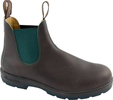 Blundstone 1317,Stout Brown Leather/Teal Green Gore/Teal Green,AU 6