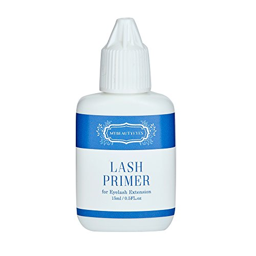 - Lash Primer for Eyelash Extension 15 ml/Pre-Treatment for Semi Permanent Eyelash/Easily Removes Proteins and Oils/Oil Free/Longer Extension Retention