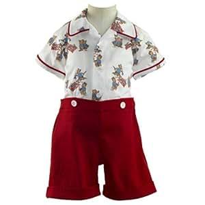 Rachel Riley Red Top & Shirt For Boys