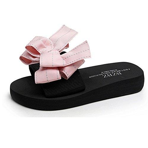 Sandals ZHIRONG Flat Bottom Non-slip Seaside Beach Shoes Outer Wear Thick Bottom Female Summer (Color : C, Size : EU35/UK3/CN34) B