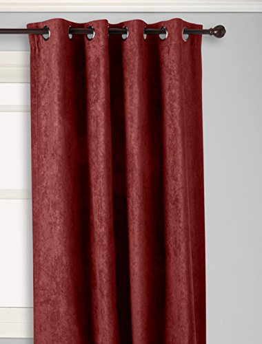 Curtainworks Cameron Grommet Curtain Panel, 50 by 120″, Bordeaux