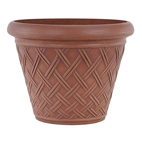 - Arcadia PSW MB46TC Basket Weave Planter, 18 by 14-Inch, Terra Cotta