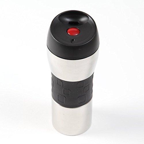 the-sharper-image-travel-mug-push-button-to-drink-black