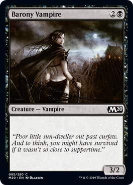 Barony Vampire * Core Set 2020 Magic The Gathering foil