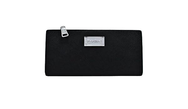 b2e4a21ebe Prodori Strapless Black Leather Clutch Silver Label  Handbags  Amazon.com