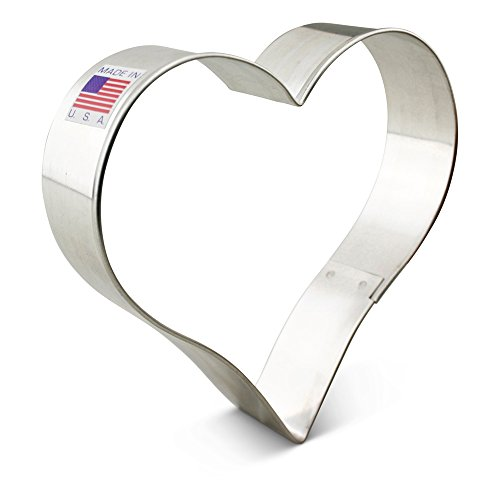 Ann Clark Heart Cookie Cutter - 4 Inches - Tin Plated Steel (Heart Shaped Cookie Cutter)