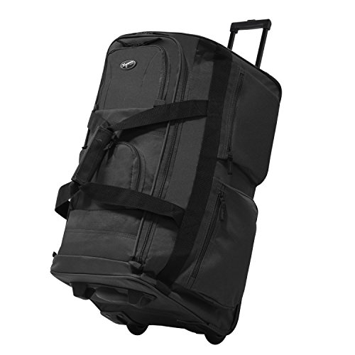 Olympia USA 33 Inch 8 Pocket Rolling Duffel (Charcoal Gray w/ Black - Exclusive - Olympia Black