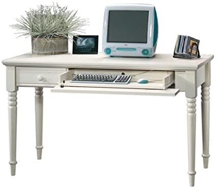 Image Unavailable. Image not available for. Color: Sauder Harbor View  Writing Desk, Antiqued White Finish - Amazon.com: Sauder Harbor View Writing Desk, Antiqued White Finish