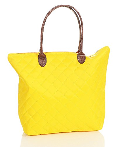 Malito Woman Shopper Bag Colors Fashion Quilted Bag Yellow Bag T200