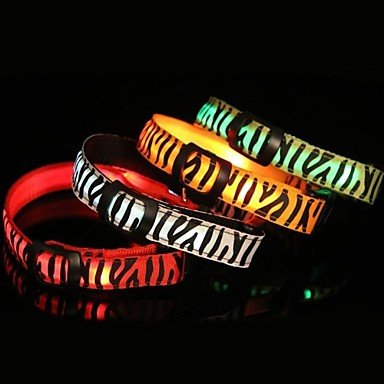 Feng 1 Pcs Cool Zebra LED Light Pet Collar for Pets Dogs(White&Red&Purple&Green&Orange&Pink)(S&M&L)