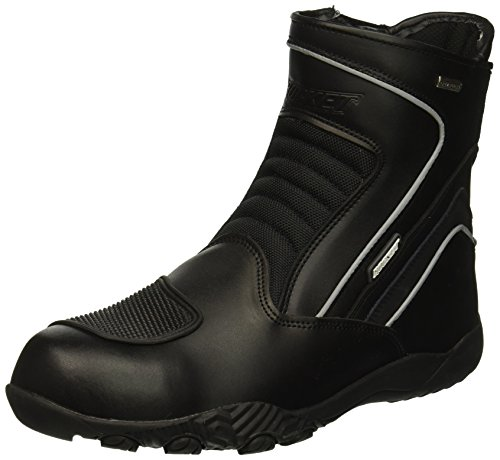 Joe Rocket Men's Meteor FX Mid Leather Motorcycle Riding Boot (Black, Size 11)