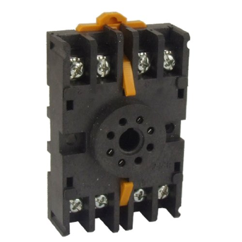 Uxcell a11032900ux0478 8PFA ​DIN Rail Mount 8 Pin Time Relay Socket Octal Base (Octal Base)