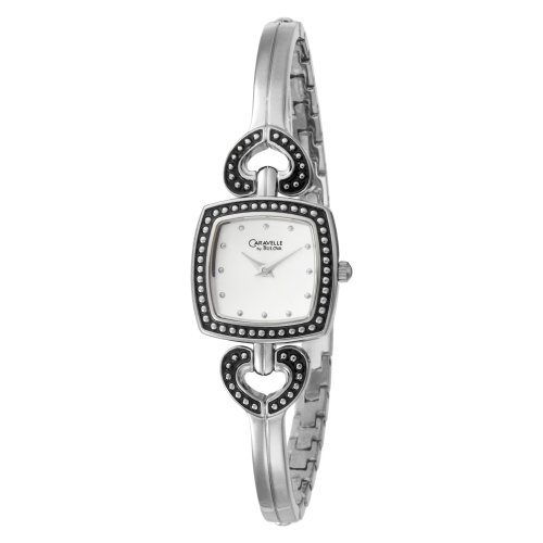 Caravelle by Bulova Women's 43L116 Silver and White Dial Metal Bracelet Watch