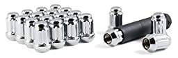 Gorilla Automotive 21133HT Small Diameter Acorn Chrome 5 Lug Kit (12mm x 1.50 Thread Size) Pack Of 20