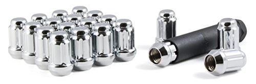 Gorilla Automotive 21123HT Small Diameter Acorn Chrome 5 Lug Kit (12mm x 1.25 Thread Size) - Pack Of 20 (Altima Lug Nuts)