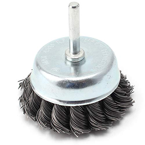3 Inch Steel Knotted Wire Cup Brush For Removal of Rust/Corrosion / Paint - Reduced Wire Breakage and Longer Life