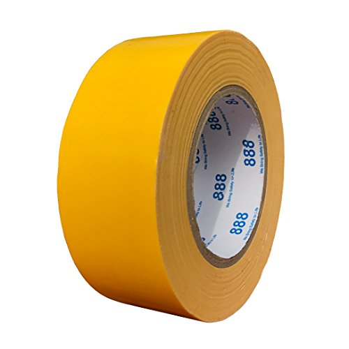 MG888 Yellow Colored Duct Tape 1.88 Inches x 60 Yards, Duct Tape for Crafts, DIY, Repairs, Indoor Outdoor Use ()