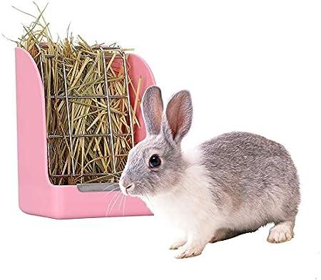 GZGZADMC comedero para Conejo, Conejo, cobaya, heno, cobaya, heno, comedero de heno, Chinchilla de plástico para Alimentos