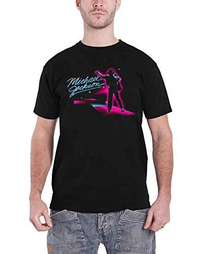 Michael Jackson T Shirt Neon Billie Jean Pose Official Mens Black Size -
