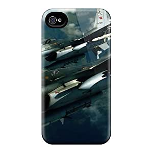 New DonaldWS Super Strong F-16 Planes Tpu Case Cover For Iphone 4/4s
