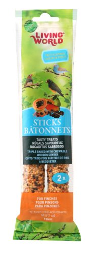 - Living World Finch Fruit Treat Sticks, 2-Ounce