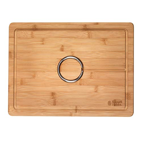 Russell Hobbs BW07272 Bamboo Carving Board with Reversible Spikes, 40 x 30 cm (Carving Board Spikes)