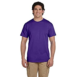 Hanes Men's ComfortBlend® EcoSmart® Crewneck T-Shirt, XL-Purple