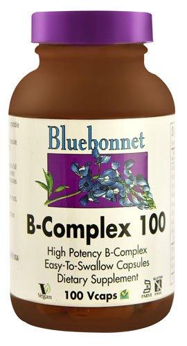 Bluebonnet Nutrition B-Complex 100 -- 100 Vcaps® - 2PC by Blue Bonnet