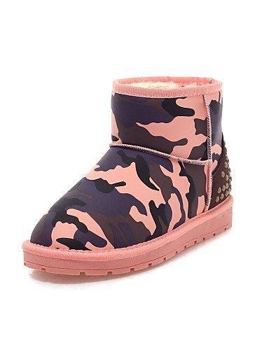 Nieve Xzz Blue us8 Pink us8 Zapatos De Mujer Uk6 Cn39 Rosa Vestido Botas Redonda Eu39 Azul Punta Plataforma Casual Semicuero ArAxw