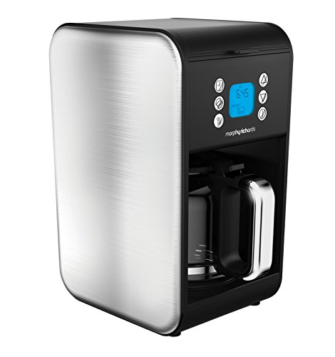 -[ Morphy Richards 162010 Pour Over Filter Coffee Maker, 1.8 Litre, 900 W - Brushed Stainless Steel