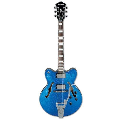 Ibanez Artcore AFD75T Hollow Body Electric Guitar (Blue Sparkle)