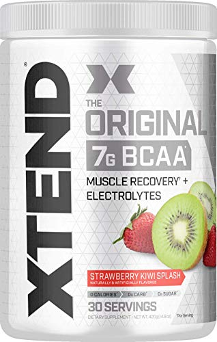 Scivation Xtend BCAA Powder, Branched Chain Amino Acids, BCAAs, Strawberry Kiwi, 30 Servings -