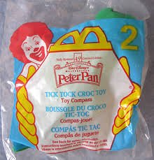 McDonalds Happy Meal - Peter Pan Toy #2 Tick Tock Croc Toy (1997) (Toy Croc)