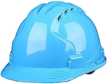 XINGZHE 建設ヘルメット - ハード非換気ハットセーフティハードハットパーソナル保護装置4点ラチェットサスペンション調整可能ヘルメット 安全ヘルメット (Color : Blue)