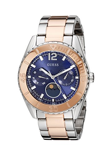 GUESS Women's U0565L3 Two-Tone Stainless Steel Blue Dial ()